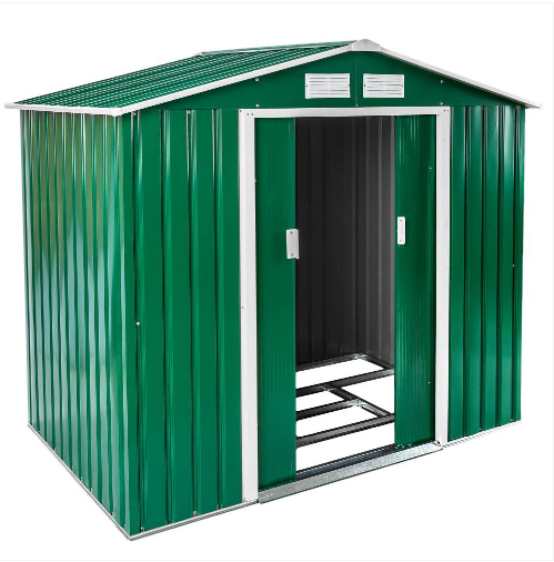 Vrtna kovinska uta hi ka zelena za orodje 4 6 m akcija - Casetas de metal ...